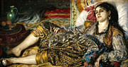 Odalisque Photo Framed Prints - Renoir: Odalisque, 1870 Framed Print by Granger