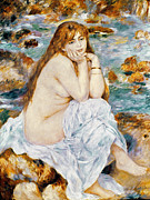 1885 Photos - Renoir: Seated Bather, 1885 by Granger