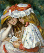 Sleeve Prints - Renoir: Two Girls Reading Print by Granger