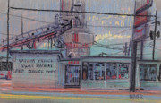 Industrial Pastels Originals - Repair Shop by Donald Maier