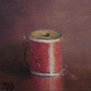 Thread Paintings - Repairs IV by Debbie Lamey-MacDonald