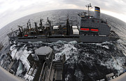 Reagan Framed Prints - Replenishment At Sea Between Usns Framed Print by Stocktrek Images
