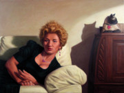 Interior Paintings - Repose by James W Johnson