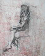 Pensive Drawings Originals - Repose by Julianna Ziegler