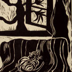Linocut Reliefs Originals - Repose by Kim Tyson
