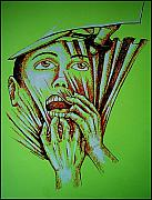 Gestures Mixed Media Metal Prints - Repression Metal Print by Paulo Zerbato