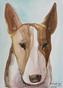 English Bull Terrier Posters - Rescue Me Nr. 3 Poster by Jindra Noewi