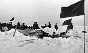 Rescuing Prints - Rescue Of Soviet Arctic Expedition, 1938 Print by Ria Novosti