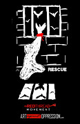 Human Trafficking Digital Art Posters - Rescue Project Commemorative Poster by Armando Heredia