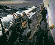 1898 Paintings - Rescue by Thomas Harold Beament