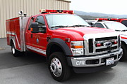 Fire Fighters Prints - Rescue Truck . Coastside Fire Protection District 7d15096 Print by Wingsdomain Art and Photography