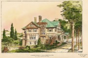 Rogers Framed Prints - Residence for George Rogers Greenfield MA  1903 Framed Print by Gardner