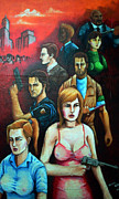 Ashcroft Framed Prints - Resident Evil Outbreak Survivors Framed Print by Edzel marvez Rendal