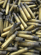 Packing Metal Prints - Residual Ammunition Casing Materials Metal Print by Stocktrek Images