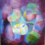 Lotus Leaves Paintings - Resilience by Sangeeta Charan
