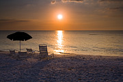 Sunset Seascape Framed Prints - Resort View Framed Print by Mike  Dawson