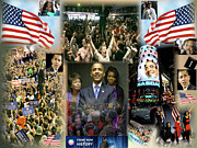 Barack Obama Digital Art Posters - Respectfully Yours..... Mr. President 2 Poster by Terry Wallace