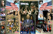 Michelle Obama Digital Art Posters - Respectfully Yours..... Mr. President Poster by Terry Wallace