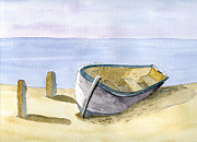 Transportation Drawings - Rest at shore by Eva Ason