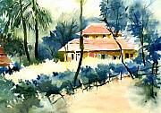 Rest House Print by Anil Nene