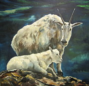 Goat Painting Originals - Rest Stop by Mimi Matsuda