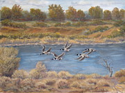 Grande Paintings - Rest Stop Rio Grande by James Fieldson
