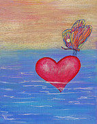 Happy Heart Acrylic Prints - Rest Your Wings by Samantha Lockwood