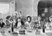 Waitress Photo Prints - RESTAURANT, 18th CENTURY Print by Granger