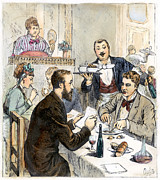Waiter Prints - Restaurant Bouvier Print by Granger