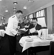 Menu Framed Prints - Restaurant Car Framed Print by John Drysdale