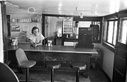 Waitress Photo Framed Prints - Restaurant Counter, 1939 Framed Print by Granger