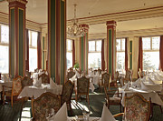 Linen Room Prints - Restaurant Interior Print by Dave & Les Jacobs