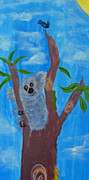 Koala Paintings - Resting Koala and Friends by Merlene Pozzi