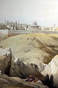 Resting Drawings - Resting Near Jerusalem by Munir Alawi