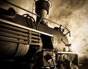 Locomotive Metal Prints - Resting overnight Metal Print by Patrick  Flynn