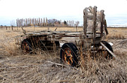 Farm Wagon Prints - Resting Place Print by James Steele
