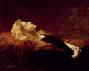 Portraits On Canvas Prints - Resting Print by Victor Gabriel Gilbert
