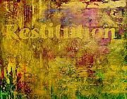 Legal Painting Posters - Restitution Poster by Laura Pierre-Louis