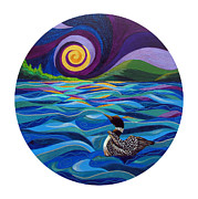 Loon Paintings - Restless by Marion Bradish