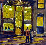 Moonlight Paintings - Resto Cafe by Richard T Pranke