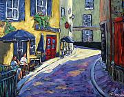 Pranke Paintings - Resto Le Cochon Dingue  in old Quebec by Richard T Pranke