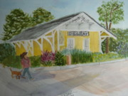 Restore Paintings - Restore 1896 Train Station by Donna Walsh