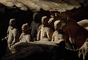 Qin Photos - Restored Terra-cotta Soldiers Lead by O. Louis Mazzatenta