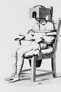 Mental Health Art Photos - Restraining Chair, 1811 by Science Source