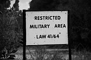 Deryneia Prints - restricted military area at the greek cypriot border post at the UN buffer zone in the green line Print by Joe Fox