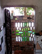 Hundertwasser Prints - Restroom Entrance Print by Peter Mooyman