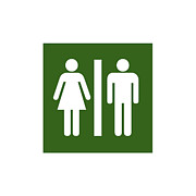 Public Restroom Prints - Restroom Sign Print by Nathan Griffith/Fuse