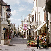 Shopper Prints - Rethymnon Crete Print by Paul Cowan