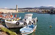 Rethymnon Harbour In Crete  Print by Paul Cowan
