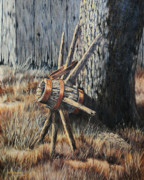 Rustic Drawings Metal Prints - Retired Metal Print by Bob Hallmark